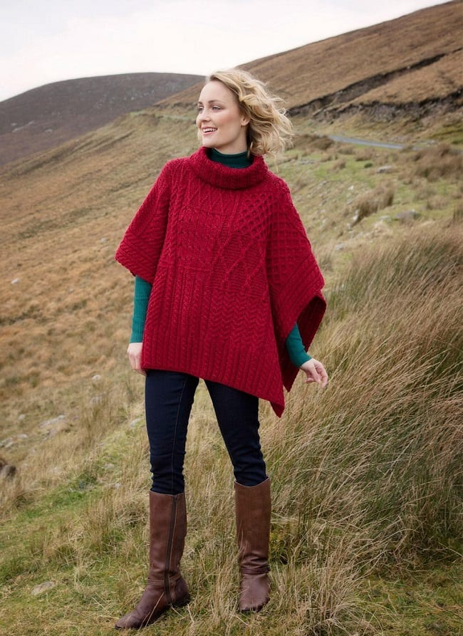 Contemporary Irish red cape