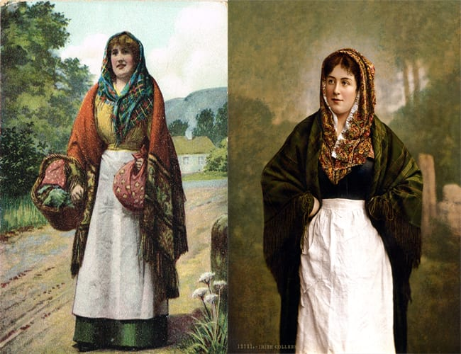 Vintage Illustrations - Irish Shawls