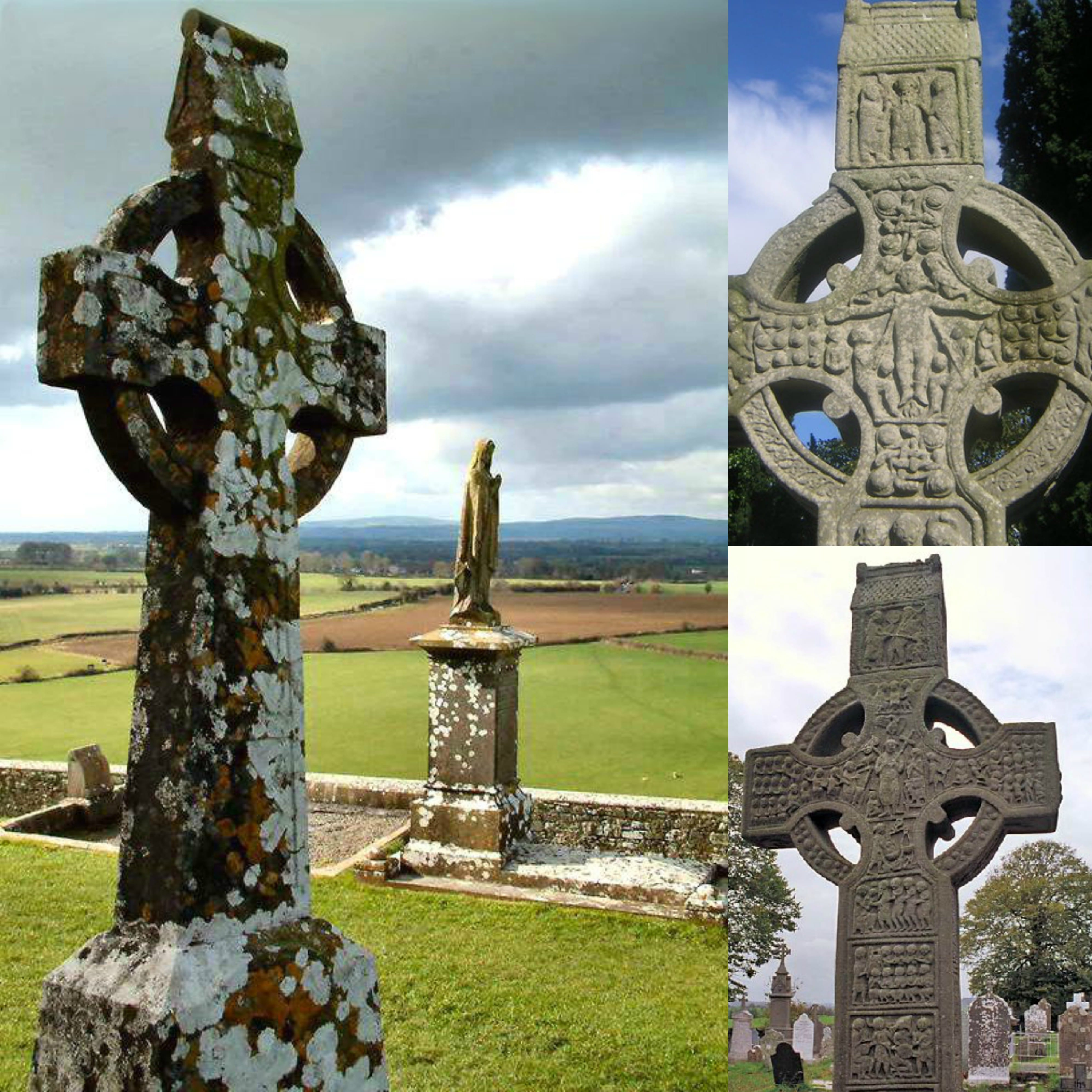 High Cross at the Rock of Cashel and Muiredach's Cross at Monasterboice