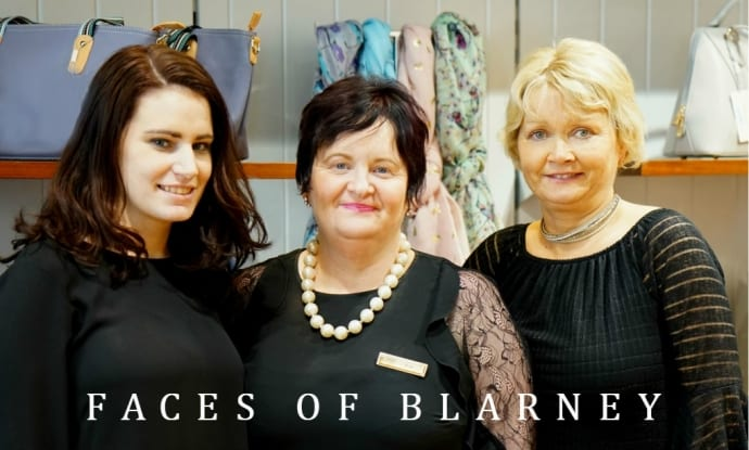 The header picture shows Lorraine, Kay and Denise - the lovely ladies of Blarney Woollen Mill's women's fashion department.