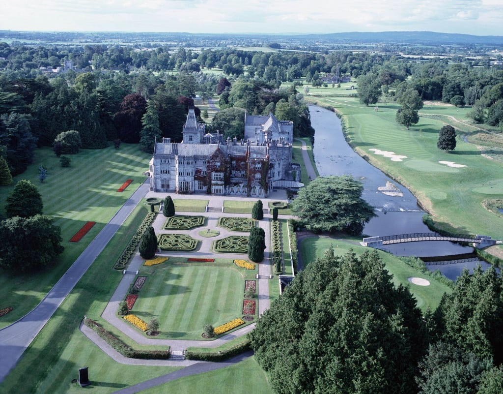 "By IrishFireside from Ishpeming, MI, USA (Adare Manor Aerial) [<a href=""http://creativecommons.org/licenses/by/2.0"">CC BY 2.0</a>], <a href=""https://commons.wikimedia.org/wiki/File%3AAdare_Manor_Aerial.jpg"">via Wikimedia Commons</a>"