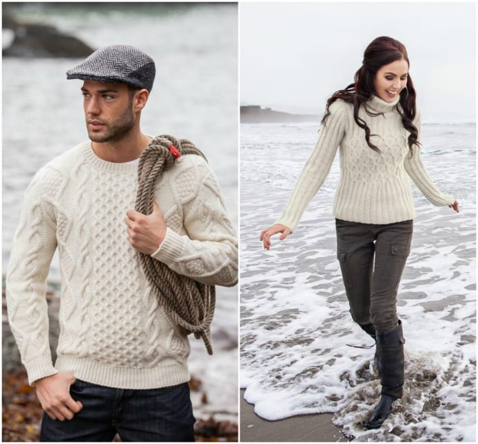 Fisherman Sweater Collage