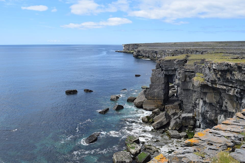 Insimore Ireland Aran Islands Cliffs. Image Source: Max Pixel