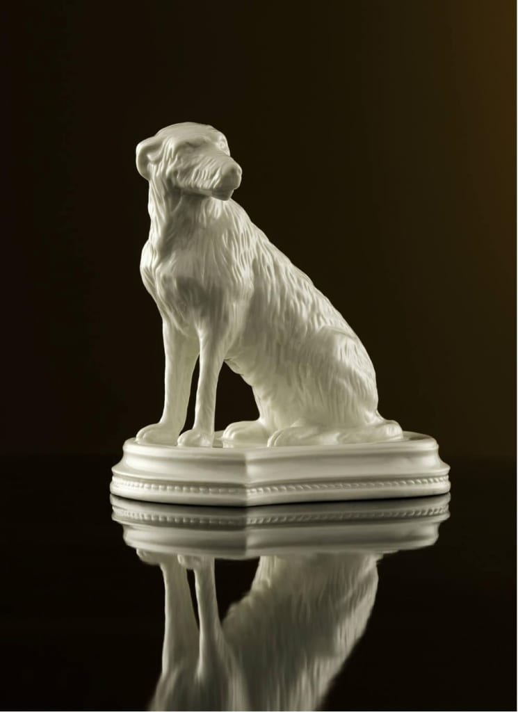 Limited Edition Belleek Classic Irish Wolfhound Figurine