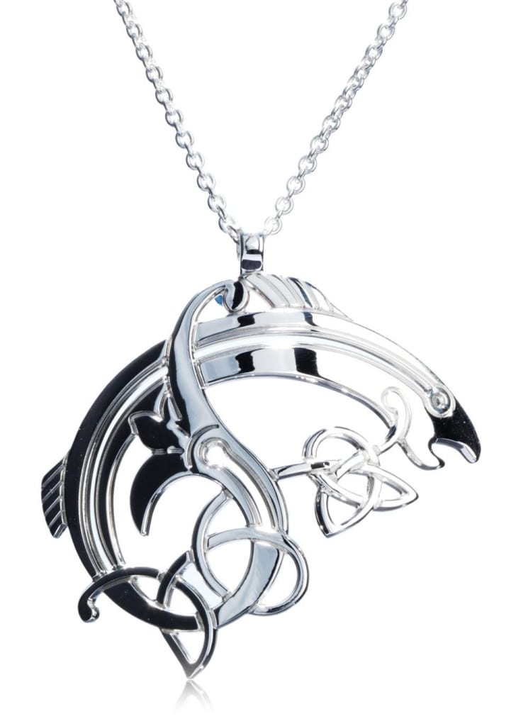 Salmon Of Knowledge Pendant by Declan Killen, $79.00