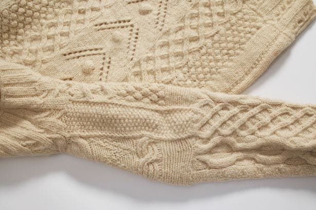 Aran sweater. 1942 example from the National Museum of Ireland.