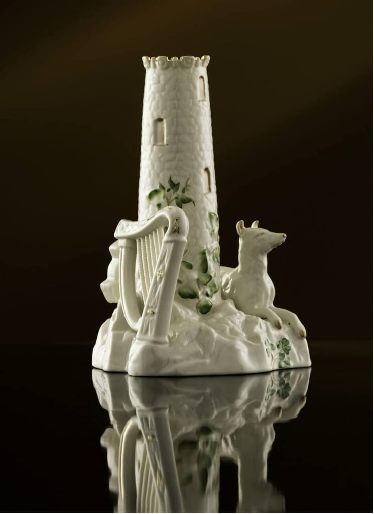 Limited Edition Belleek Classic Round Tower Centerpiece