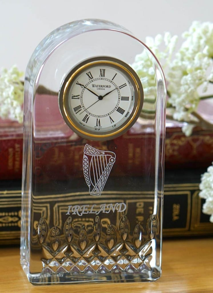 Blarney Exclusive Waterford Lismore Harp Clock