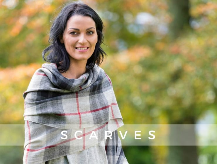 Shop the Tartan Blanket Scarf in Gray online at Blarney.com