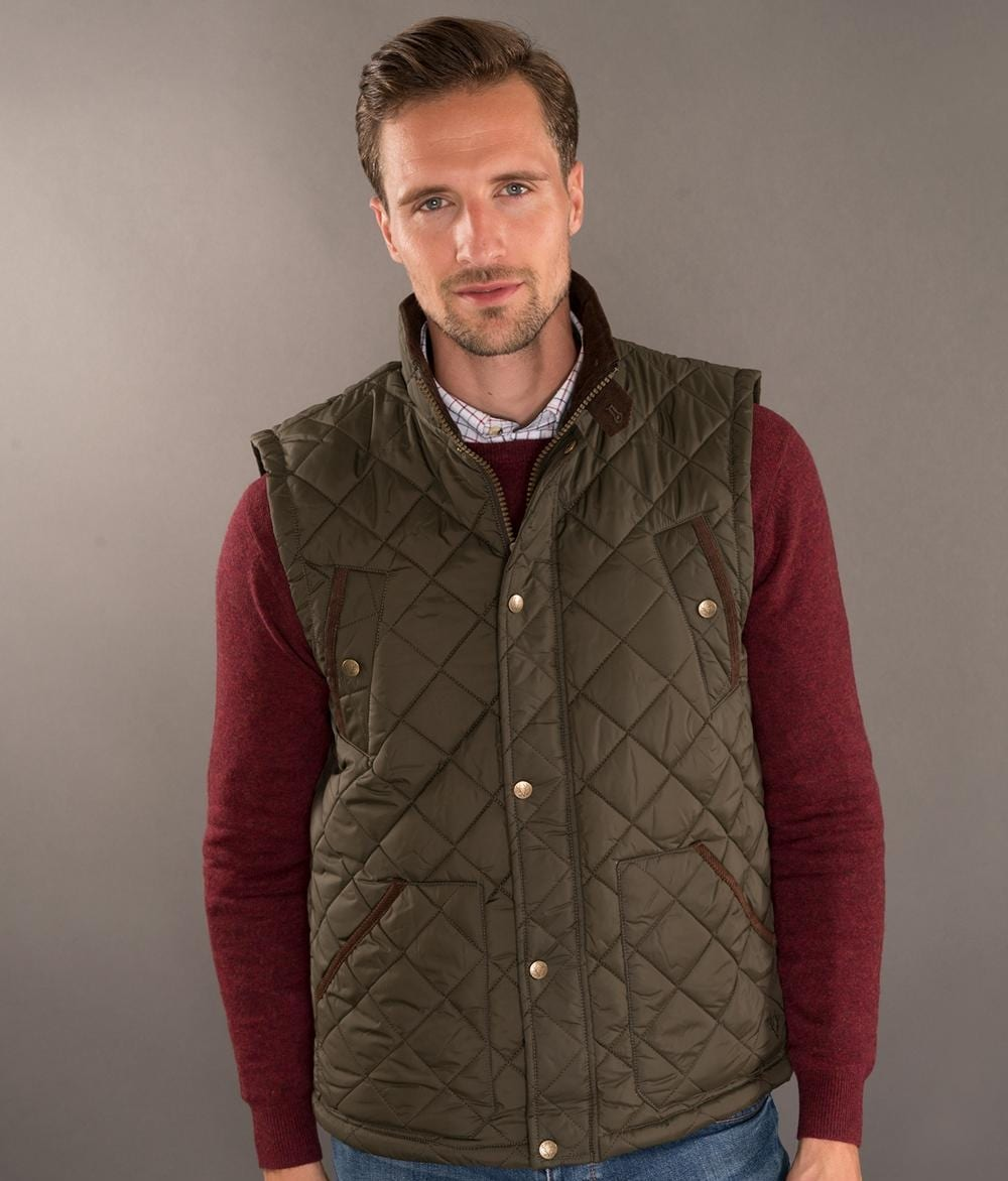 Padded Cord Gilet available on Blarney.com