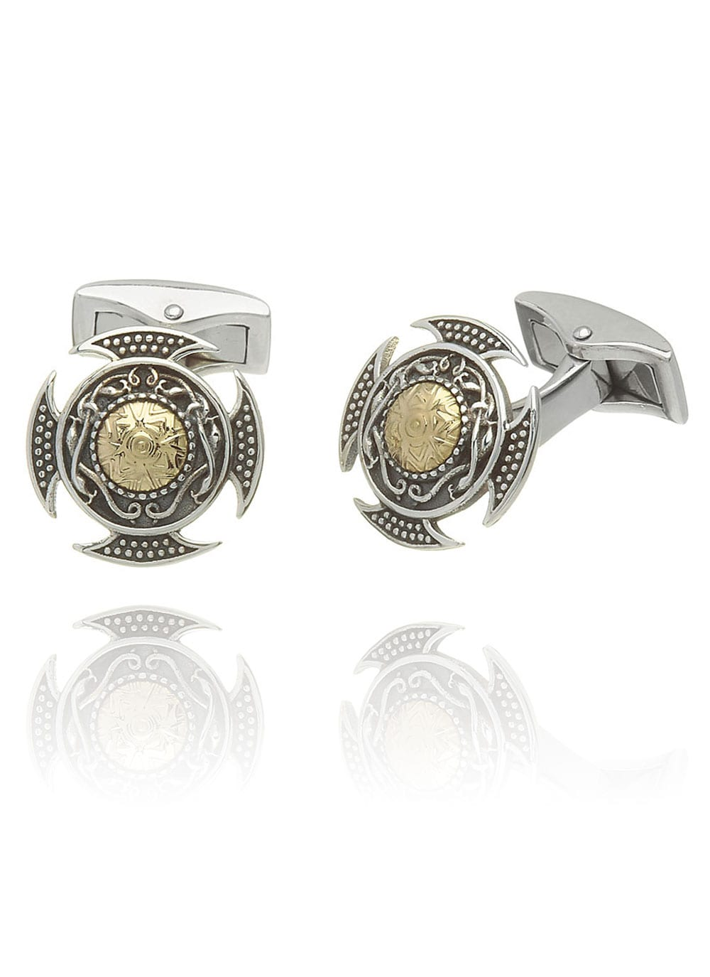 Sterling Silver Viking Cufflinks