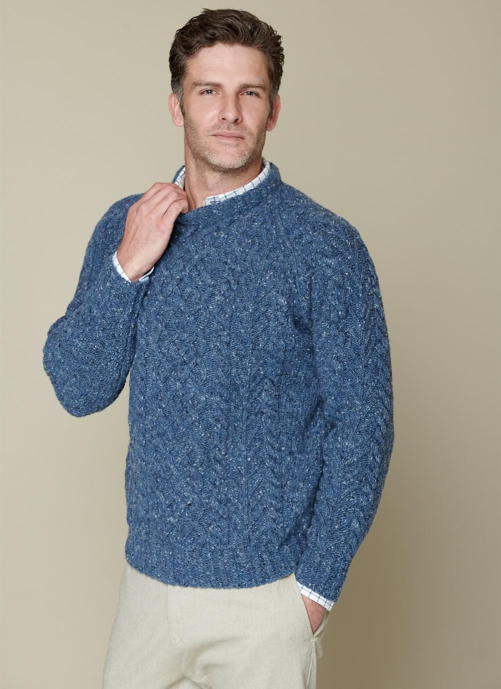 Fishing Trip Aran Crew Neck Sweater