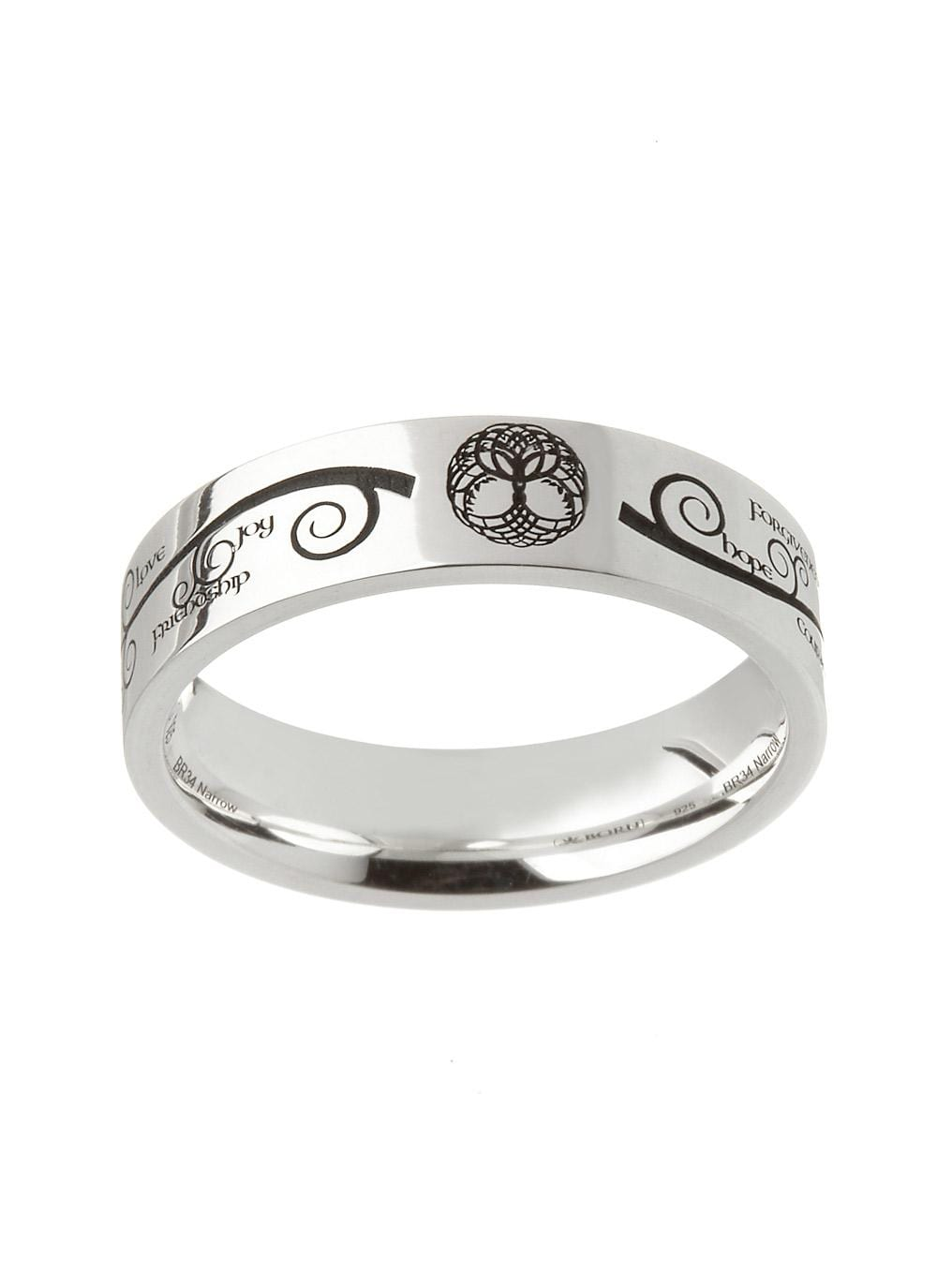 Tree of Life Etched Ring